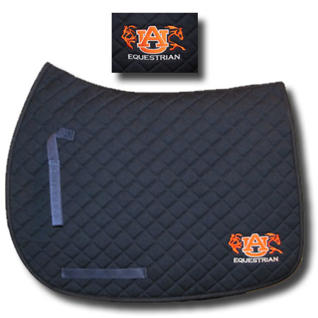 Auburn English Saddle Pad Equestrian Fan Gear